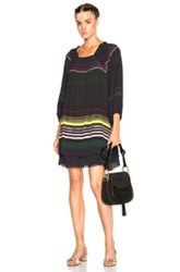 Apiece Apart Sayulita Dress In Green Stripes