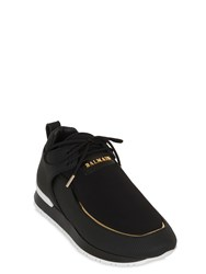 Balmain 20Mm Doda Leather And Neoprene Sneakers