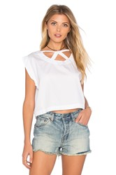 Tejido Cut Out Crop Top White