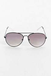 Urban Outfitters Black White Tip Aviator Sunglasses Black And White