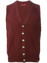 Jacob Cohen Sleeveless Cardigan Red