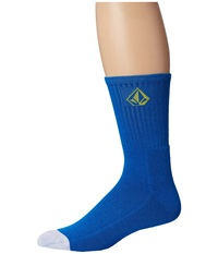 Volcom Full Stone Sock Bold Blue Men's Crew Cut Socks Shoes