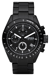 Fossil Chronograph Tachymeter Watch 44Mm Black Black