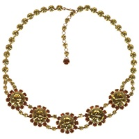 Alice Joseph Vintage 1950S Lemon Topaz Diamante Necklace Lemon