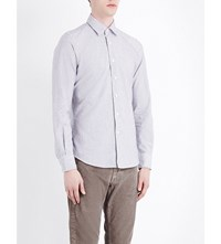 Slowear Kurt Slim Fit Brushed Cotton Shirt Blue