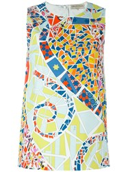 Emilio Pucci Stained Glass Print Tank Top Multicolour