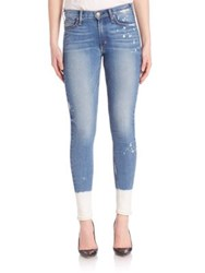 Mcguire Newton Skinny Bleached Hem Splatter Skinny Jeans South Point