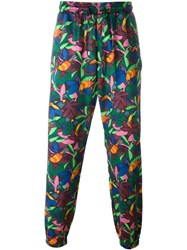 Etro Floral Print Trousers Multicolour