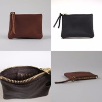 Black Bough Leather Coin Purse