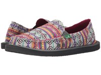 Sanuk Donna Tribal Magenta Multi Tribal Stripe Women's Slip On Shoes