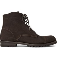 Harry's Of London Harrys Lace Up Suede Boots Dark Brown