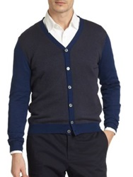 Slowear Checkered Cardigan Blue