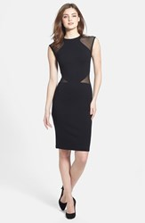 Women's French Connection 'Viven' Mesh Inset Body Con Dress