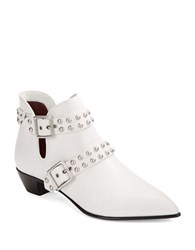 Marc By Marc Jacobs Carroll Studded Leather Booties White