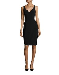 Xscape Evenings Beaded Mesh Panelled Dress Black Nude Silver