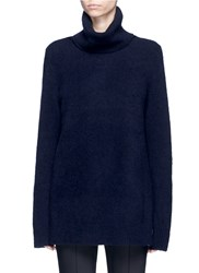 The Row 'Harlow' Cashmere Silk Blend Turtleneck Sweater Blue