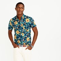 J.Crew Short Sleeve Shirt In Blue Floral