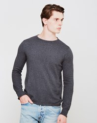 The Idle Man Crew Neck Jumper Charcoal Grey