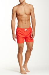 Gant Rugger Solid Swim Trunk Red