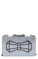Ted Baker London Bowwe Box Clutch Metallic Gunmetal