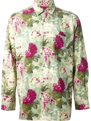 Jean Paul Gaultier Vintage Rose Print Shirt Green
