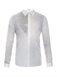 Balenciaga Spray Paint Print Cotton Shirt