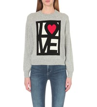 Love Moschino Heart Knitted Jumper Grey