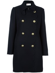 Red Valentino Double Breasted Coat Blue