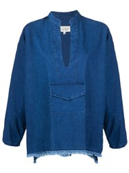 Nili Lotan Denim Blouse Blue