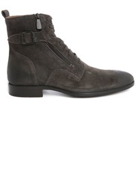 Paul And Joe Grey Sicker Corduroy Side Zip Laced Boots