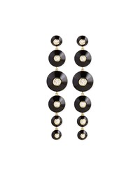 18K Pyramide Onyx And Diamond Drop Earrings Maria Canale For Forevermark Black