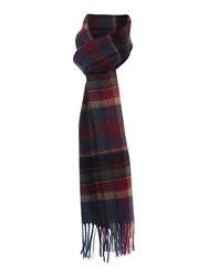 Barbour Vintage Winter Plaid Scarf Navy