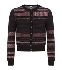 M Missoni Button Up Hole Knit Cardigan Female Black