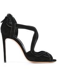 Casadei Rear Zip Sandals Black