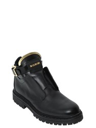Balmain 20Mm King Buckle Leather Boots