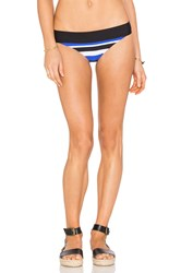 Seafolly Walk The Line Hipster Bikini Bottom Blue