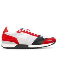 Ami Alexandre Mattiussi Panelled Sneakers Red