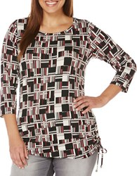 Rafaella Plus Printed Jersey Tunic Red Multi
