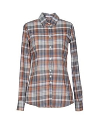 Aglini Shirts Brown