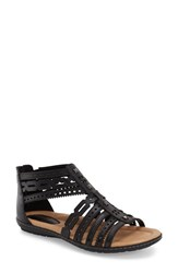 Women's Earth 'Bay' Leather Sandal Black Soft Leather