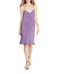 Polo Ralph Lauren Silk Slip Dress Purple