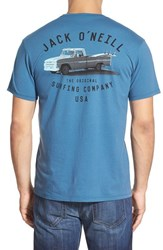 Men's Jack O'neill 'Pickup' Regular Fit T Shirt Dutch Blue