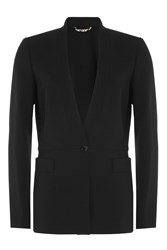 Etro Collarless Wool Blazer Black