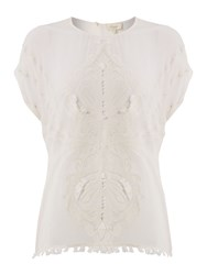 Linea Weekend Embroidered Blouse Off White
