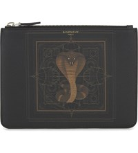 Givenchy Cobra Leather Pouch Multi