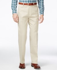Haggar Men's Stretch Waist Classic Fit Pants Sand