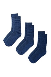 Bottoms Out Socks Pack Of 3 Blue