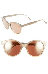 Women's Steven Alan 'Dixie' 53Mm Cat Eye Sunglasses Gold Metallic