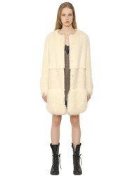 Ermanno Scervino Paneled Faux Fur Coat