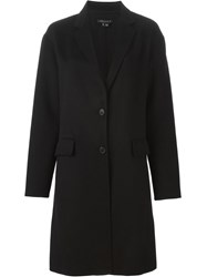 Theory Single Breasted Coat Black